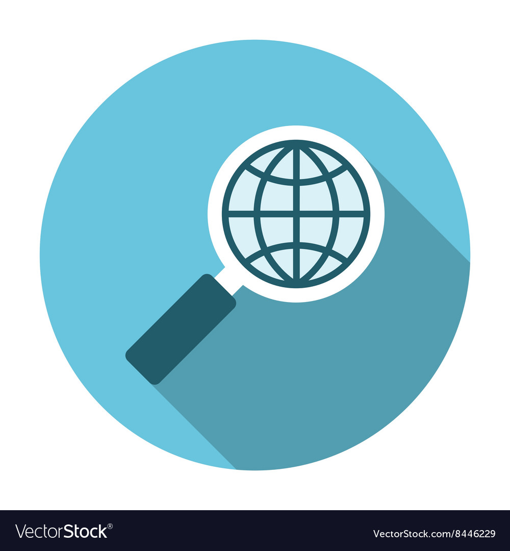 Magnifier glass with globe