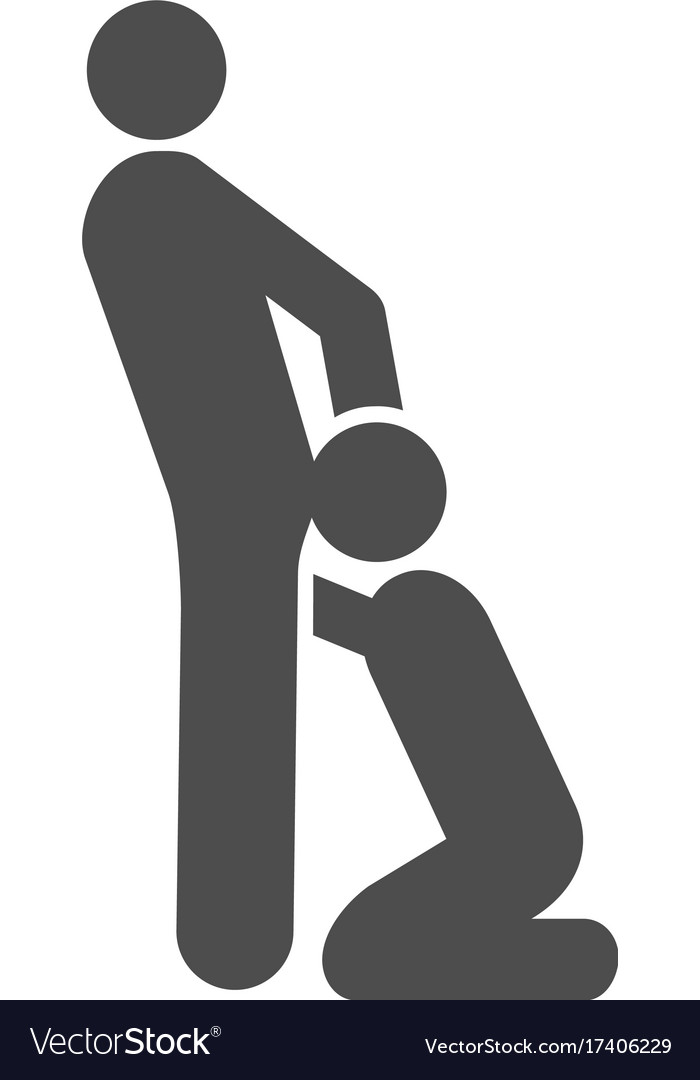 Oral sex gays flat icon vector image
