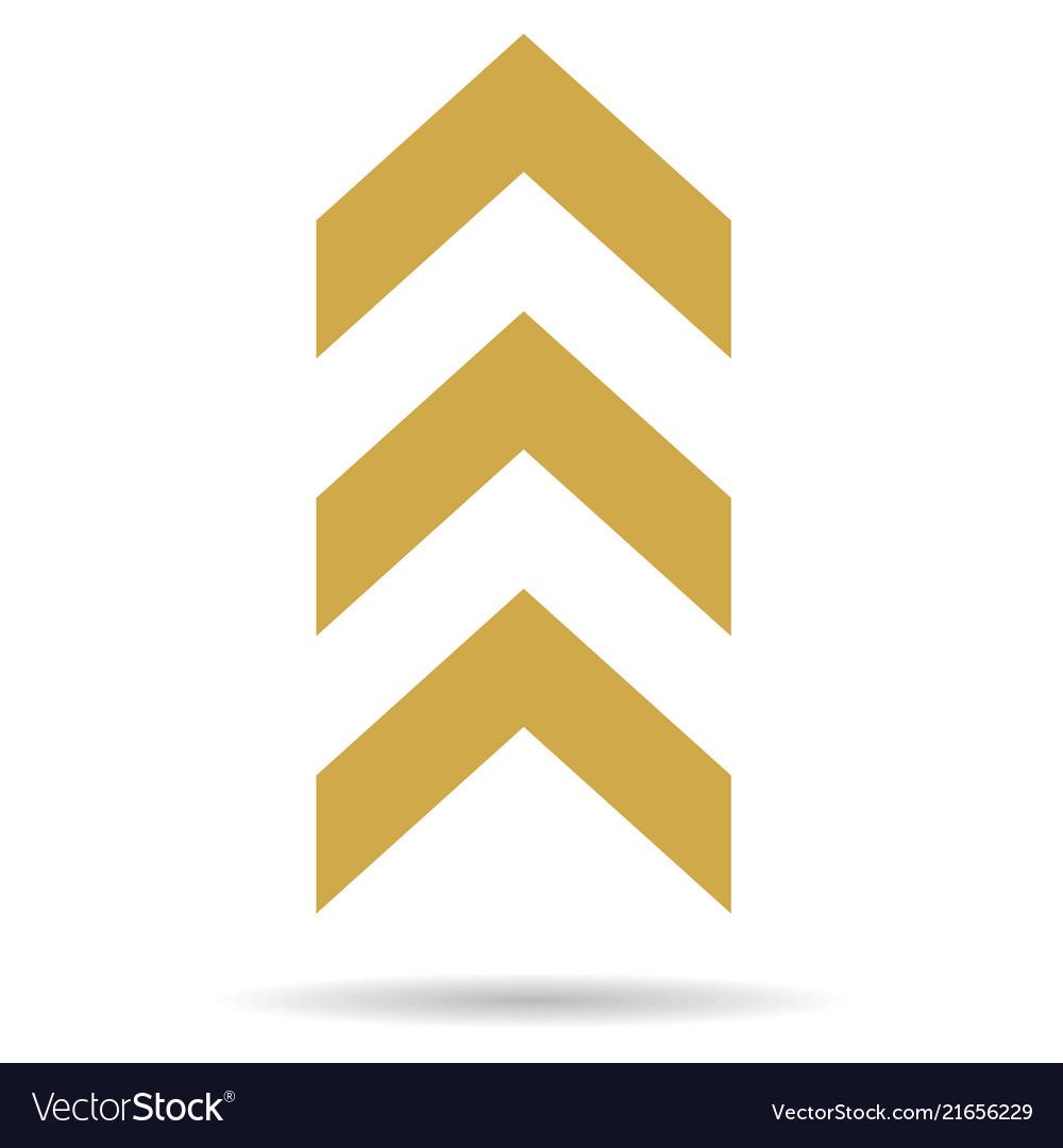 Popular abstract zig zag gold chevron stack