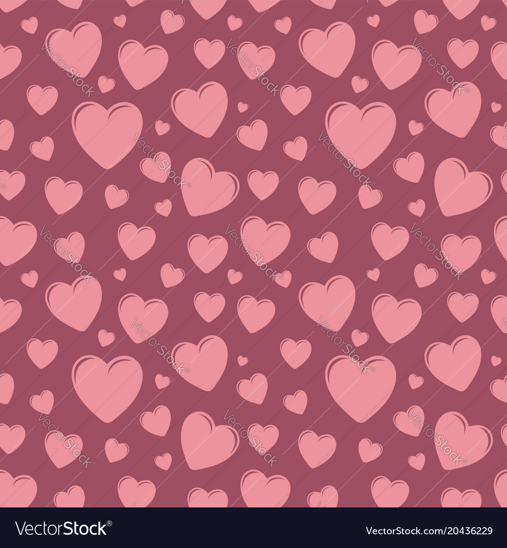 Seamless pattern with hearts valentines day