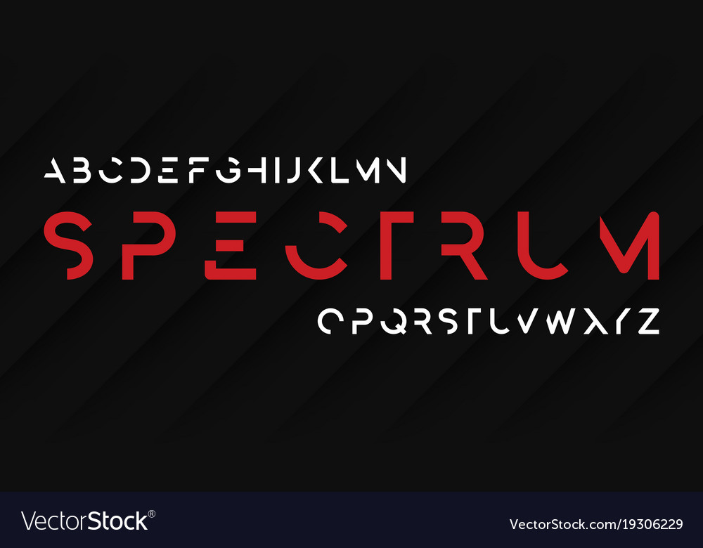 Spectrum regular futuristic decorative sans serif