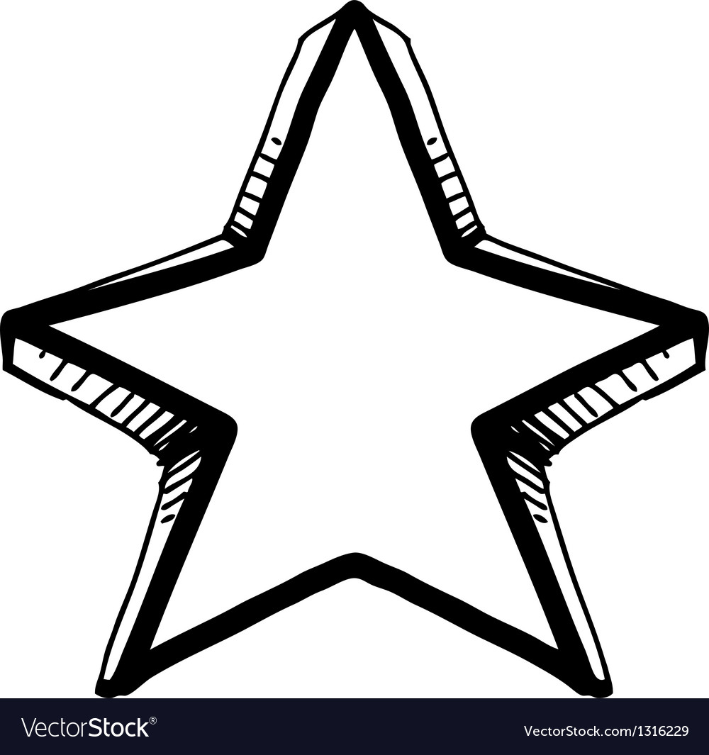 Star symbol in doodle style