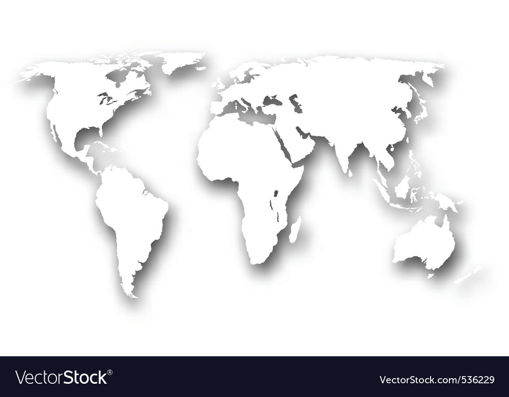 White world map vector image White world