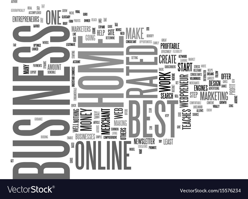Best rated home business text word cloud concept
