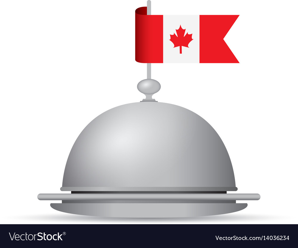 Canada flag dinner platter