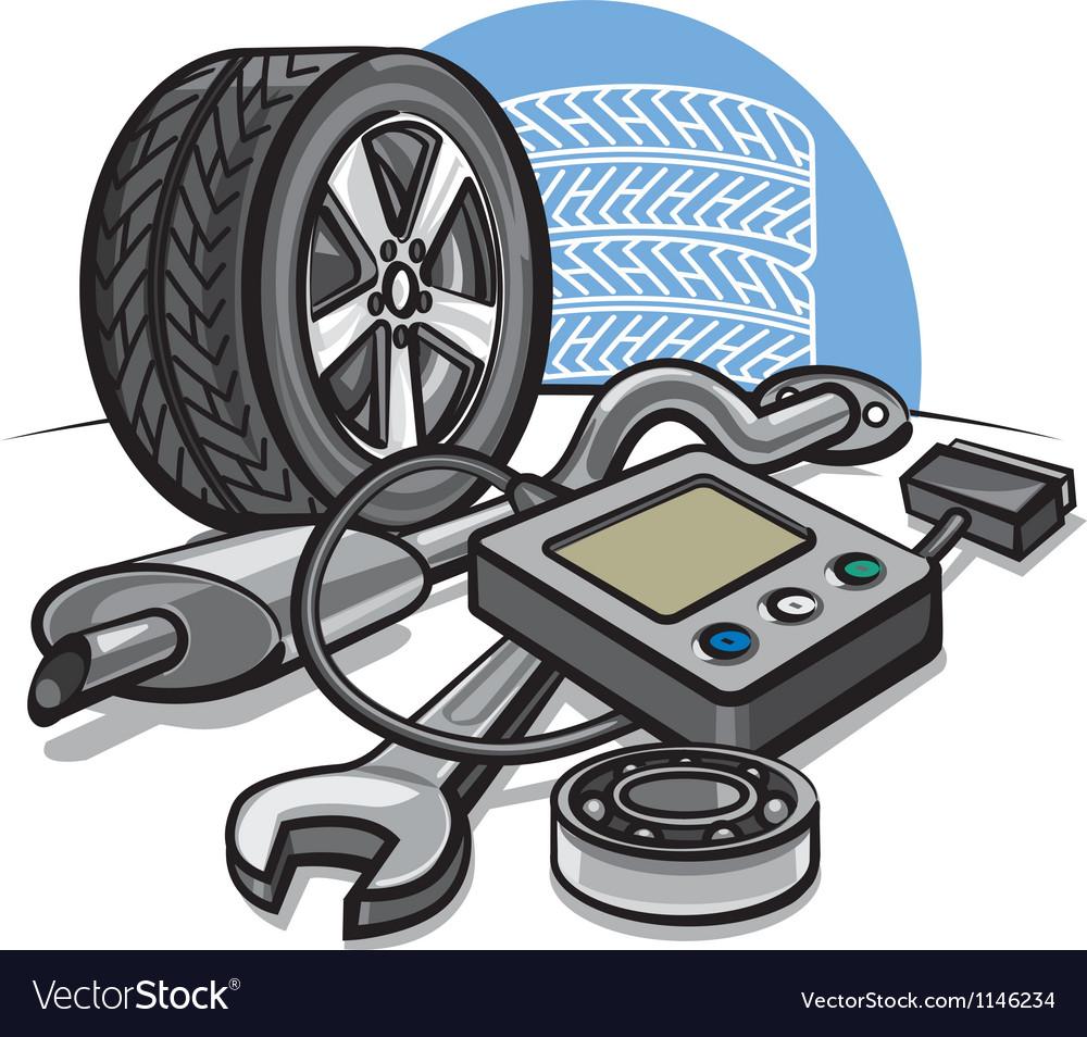 Car service vector image