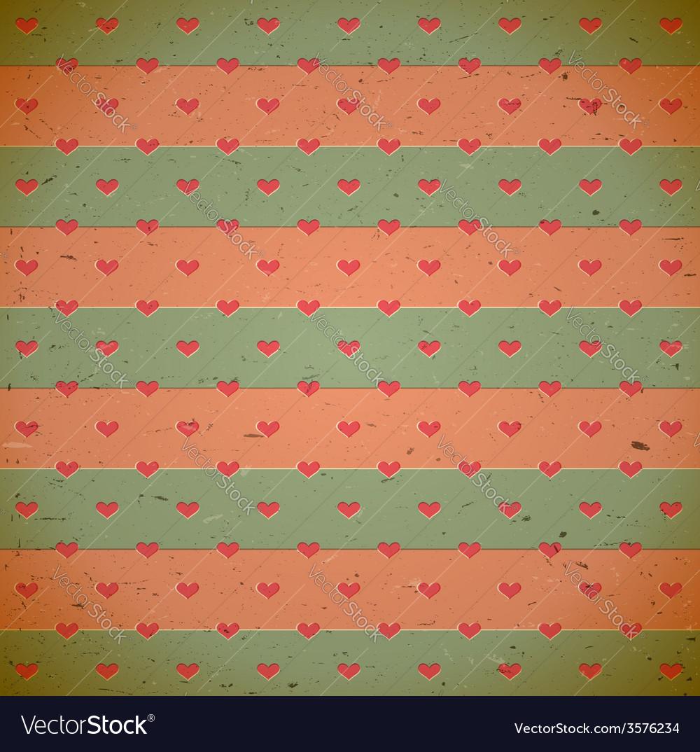 Heart pattern on the old cardboard