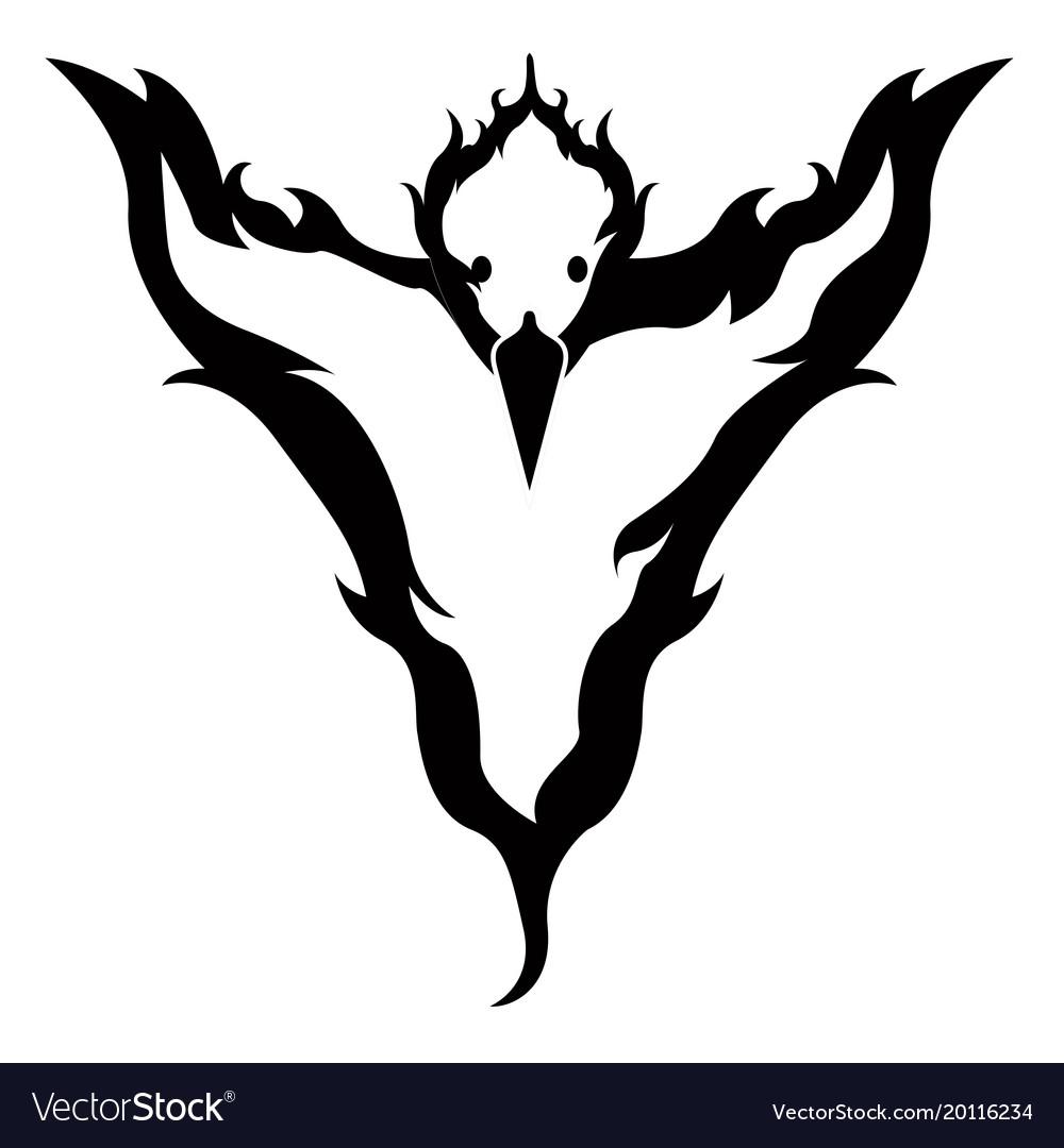 Isolated phoenix icon