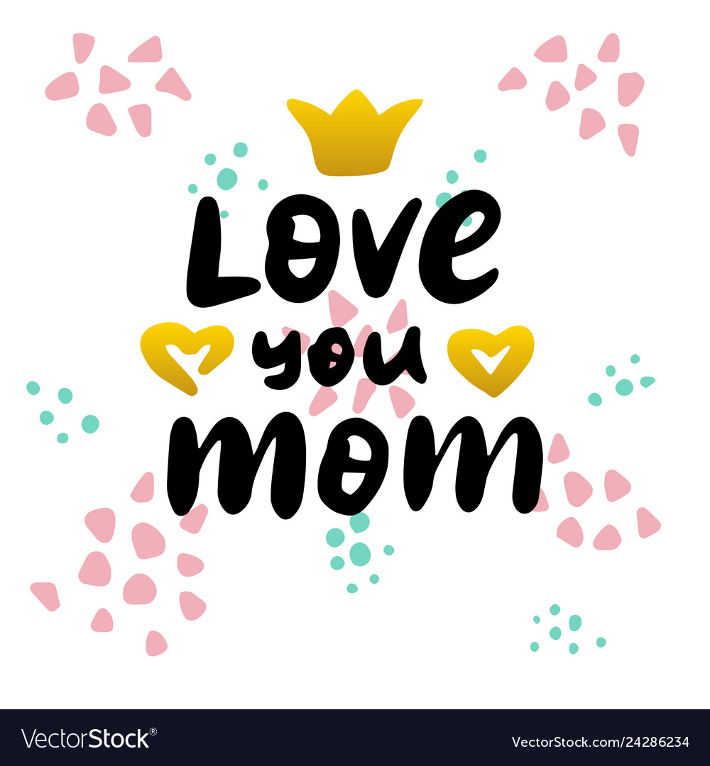 Love your mom handwritten postcard