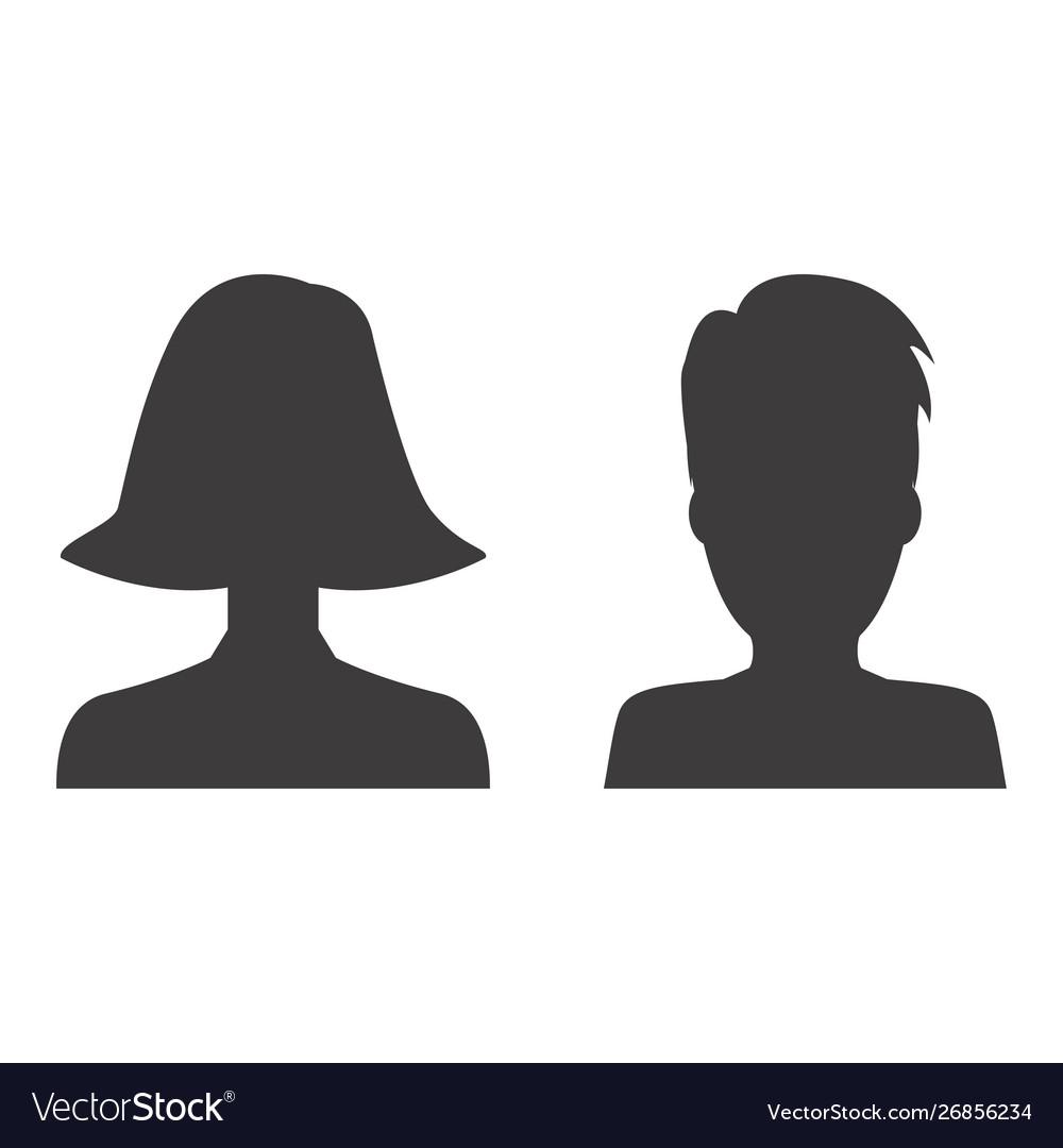 Man and woman profile icon design