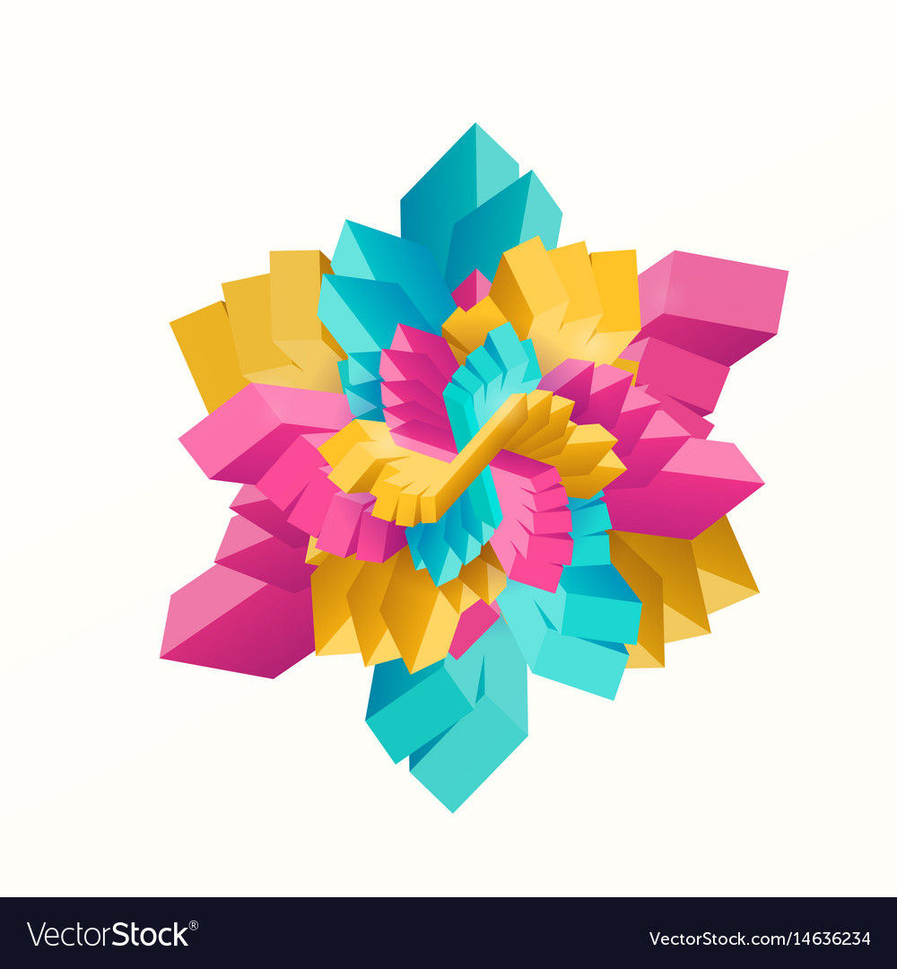 Multicolored geometric vector image