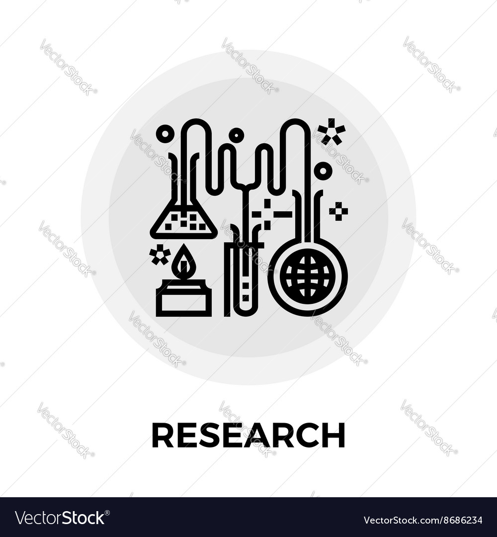 Research Line Icon vector image