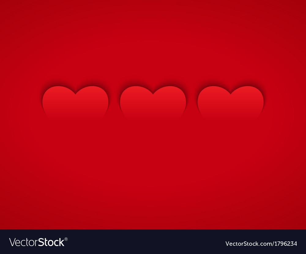 Three Red Hearts vector image