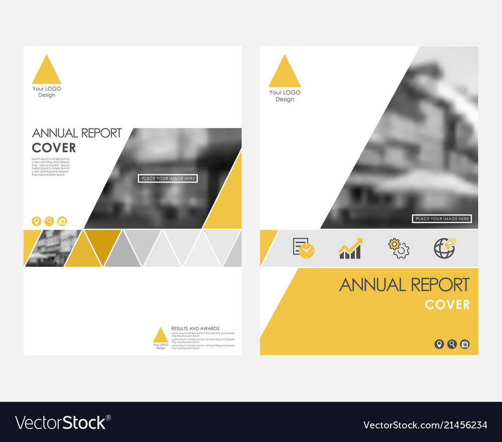 Yellow infographic cover design template