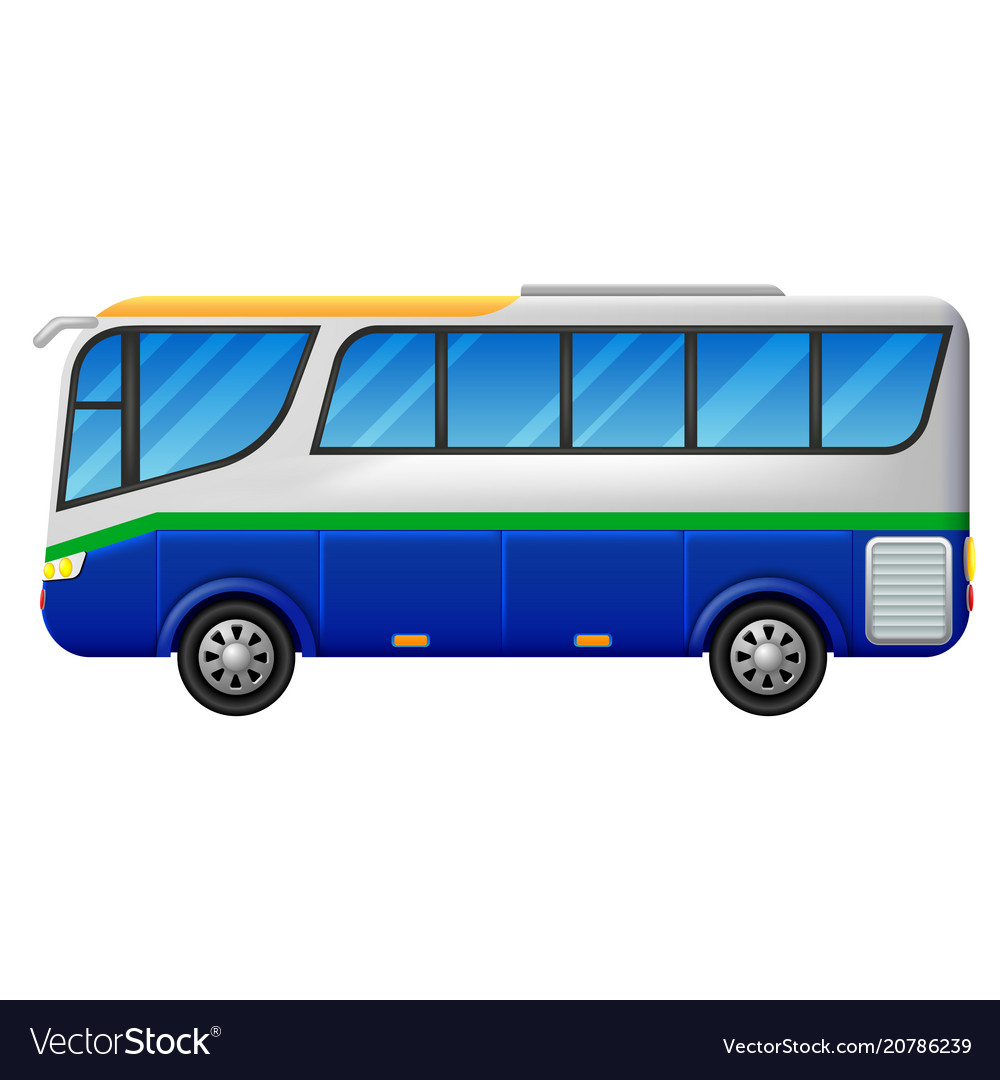 A bus on a white background