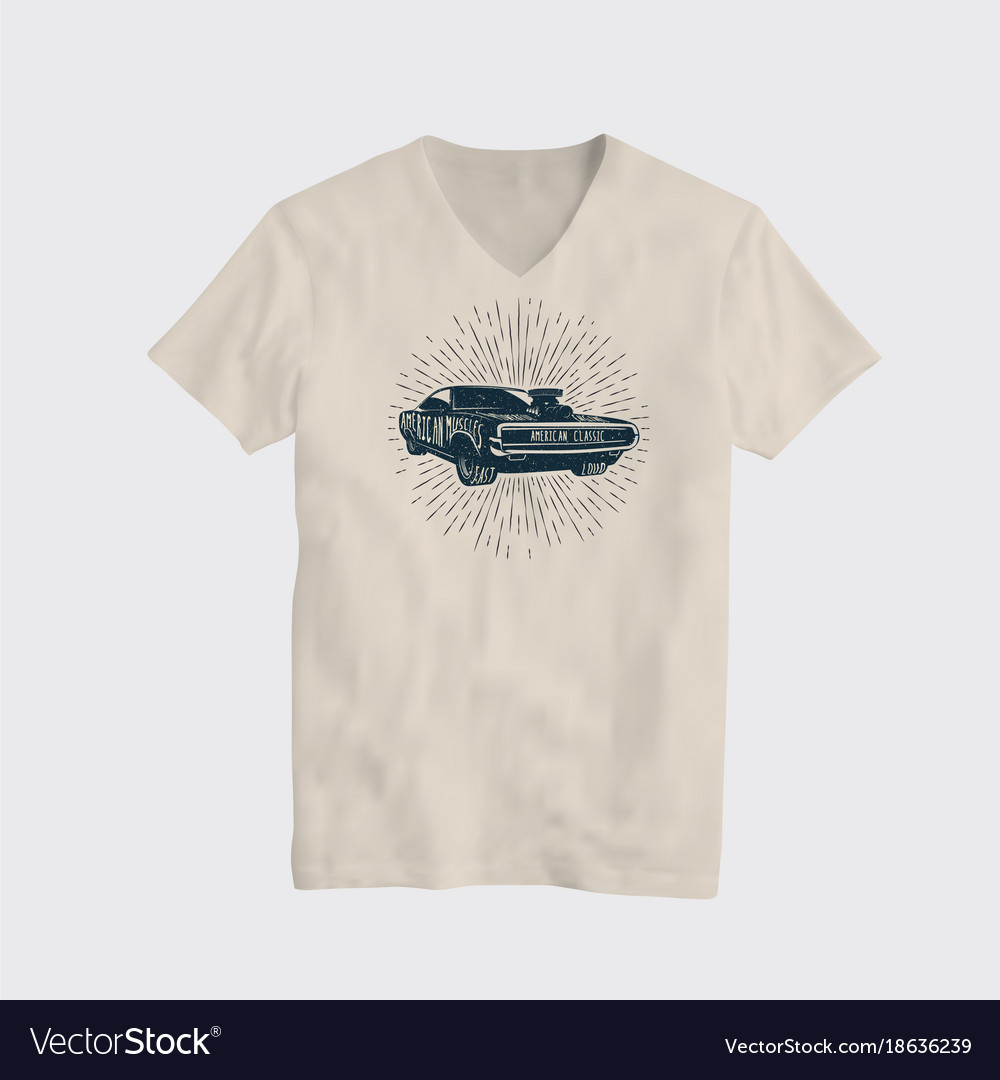 American classic muscle car t-shirt