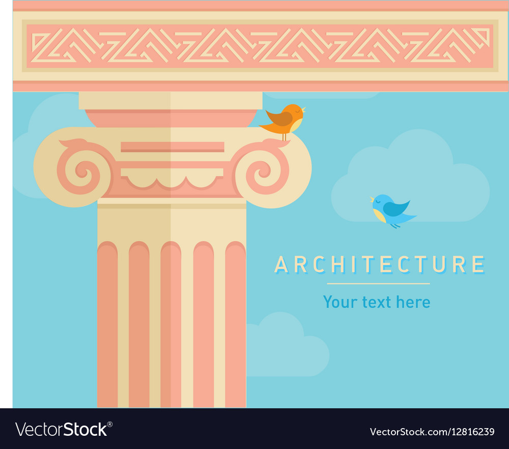 Ancient architecture tall columns