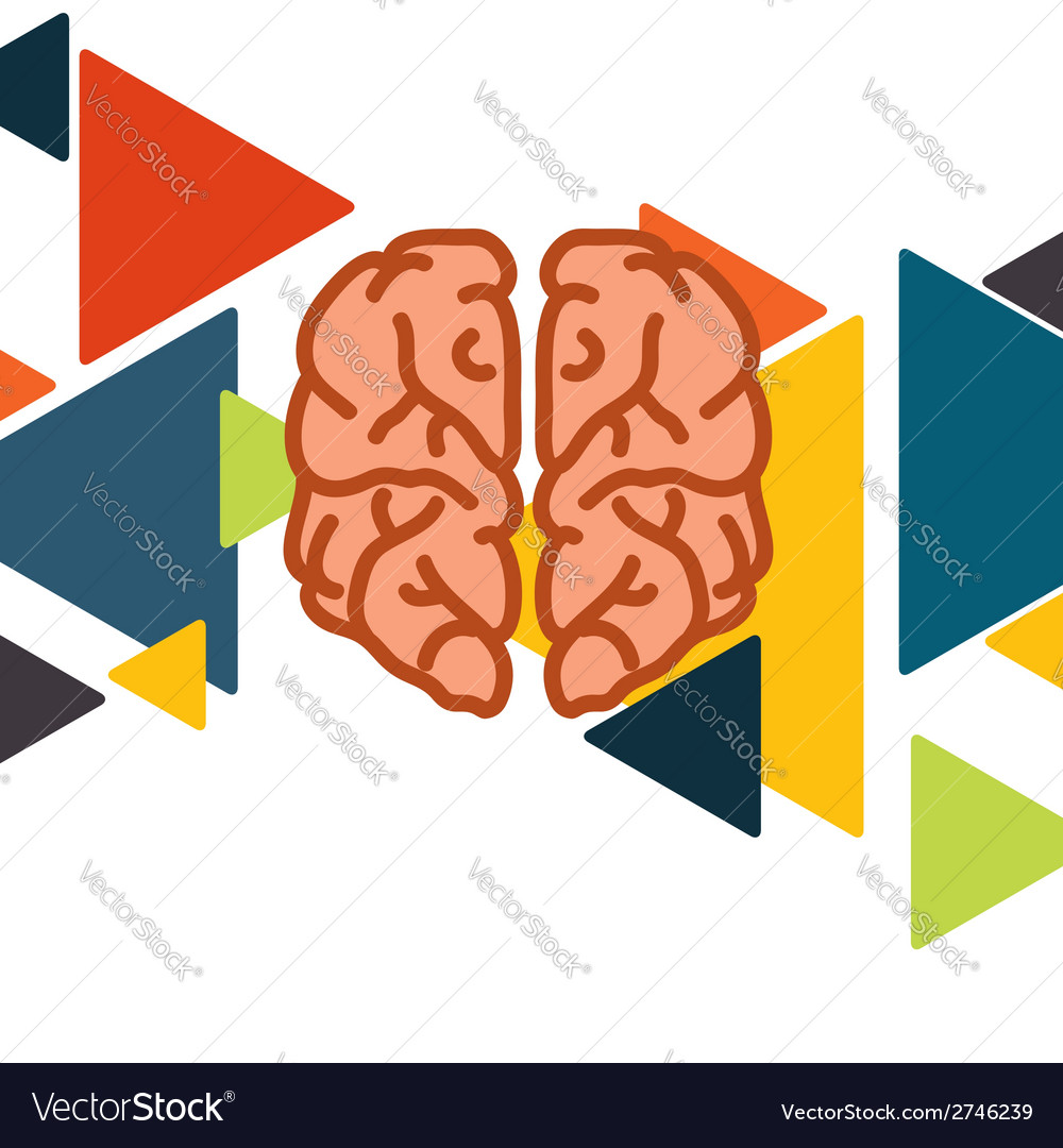 Brain In Flat Design