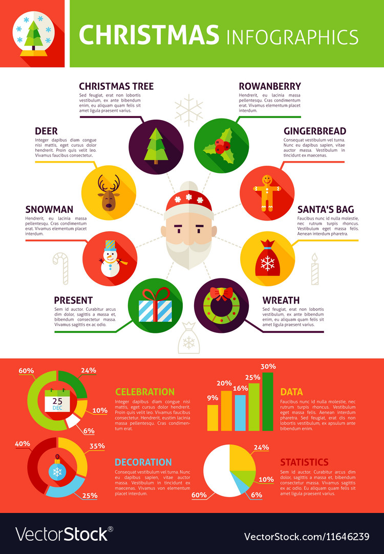 Christmas Holiday Infographics