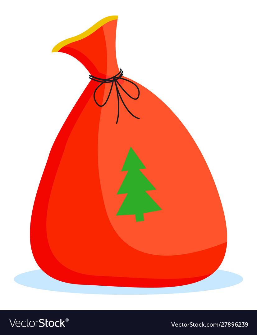 Christmas poster card bag with fir-tree
