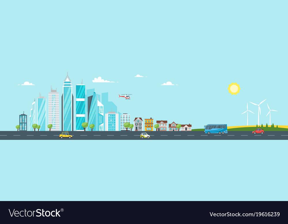 City landscape urban skyline