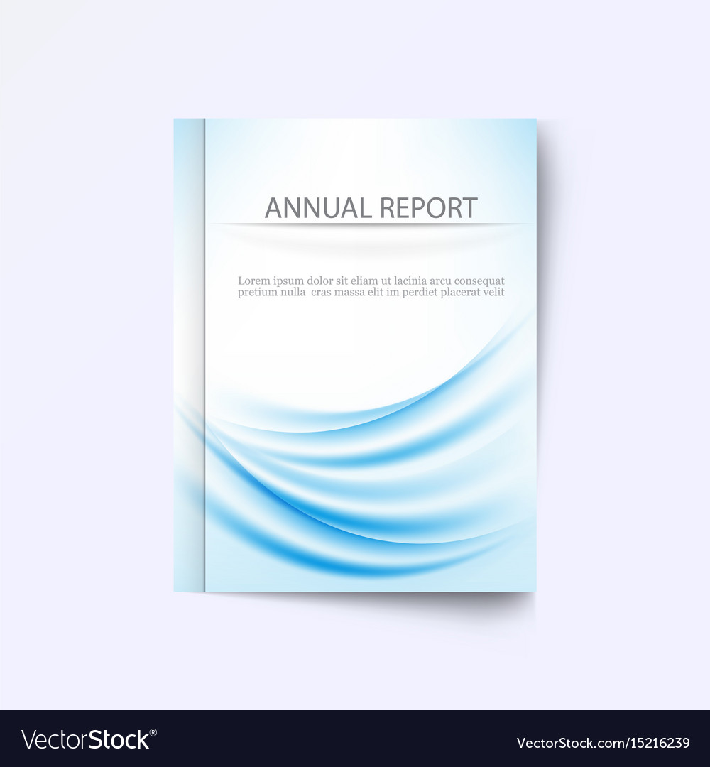 Design template brochure abstract blue wave annual vector image