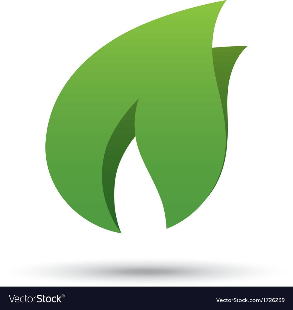 Eco icon green leaf Eco logo vector image