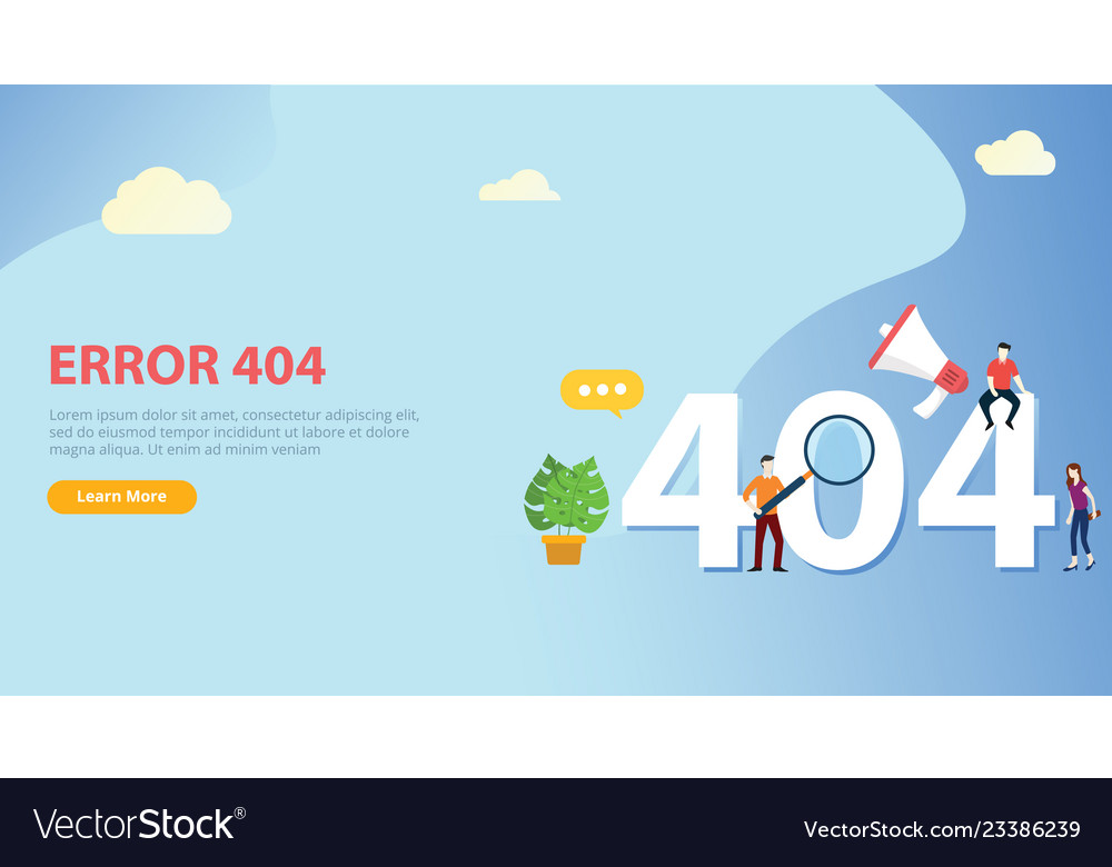 Error 404 page not found website template with