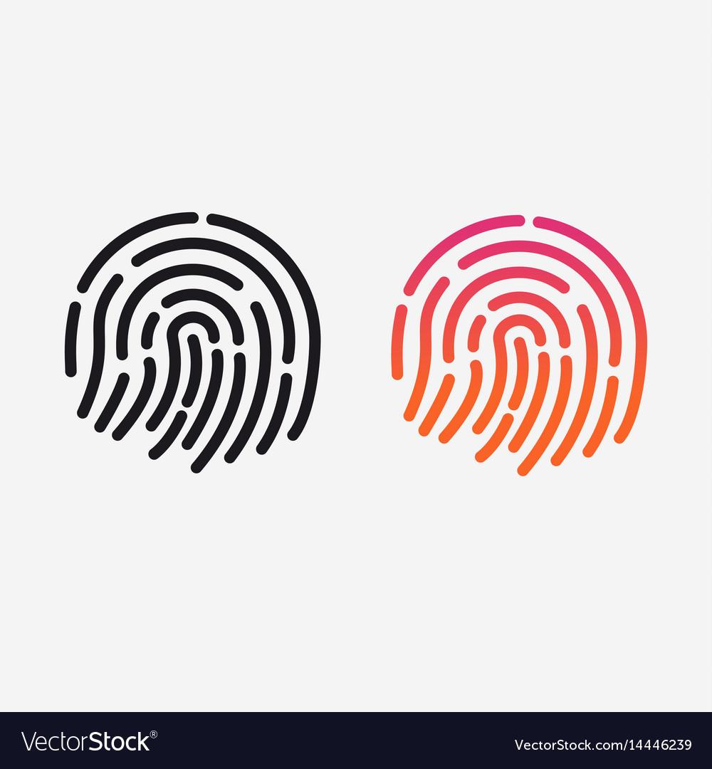 Id app icon set fingerprint for