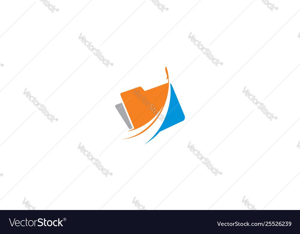 Jet folder icon logo