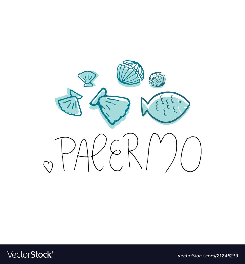 Palermo hand drawn
