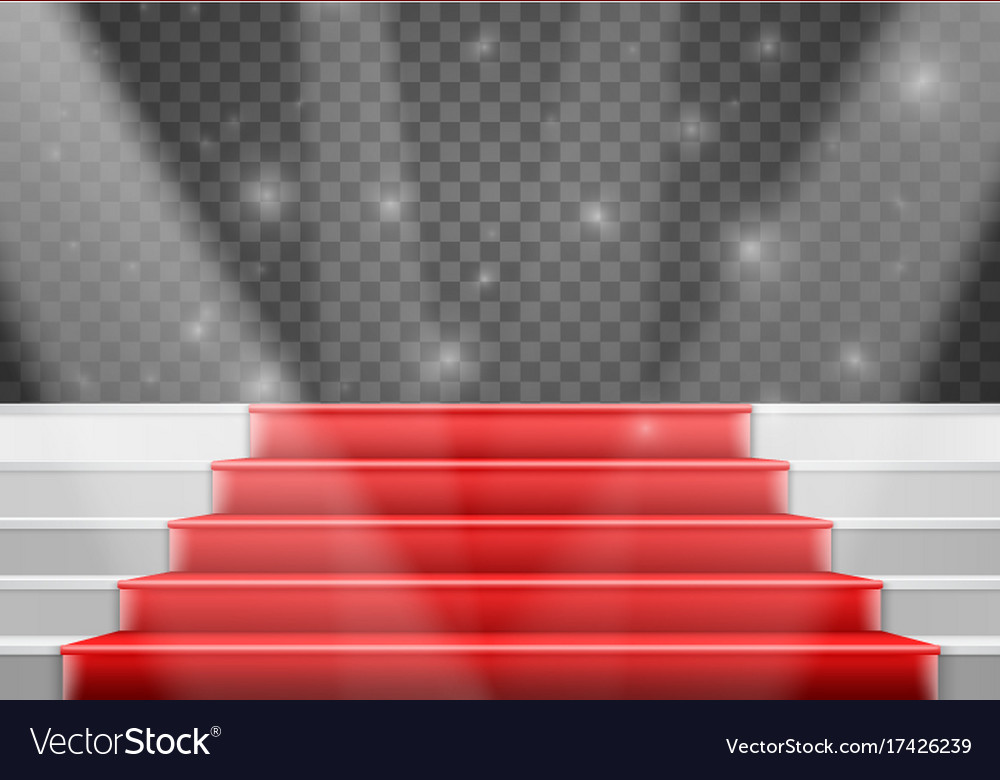 stairs template 3d realistic winner stage stairs vector image