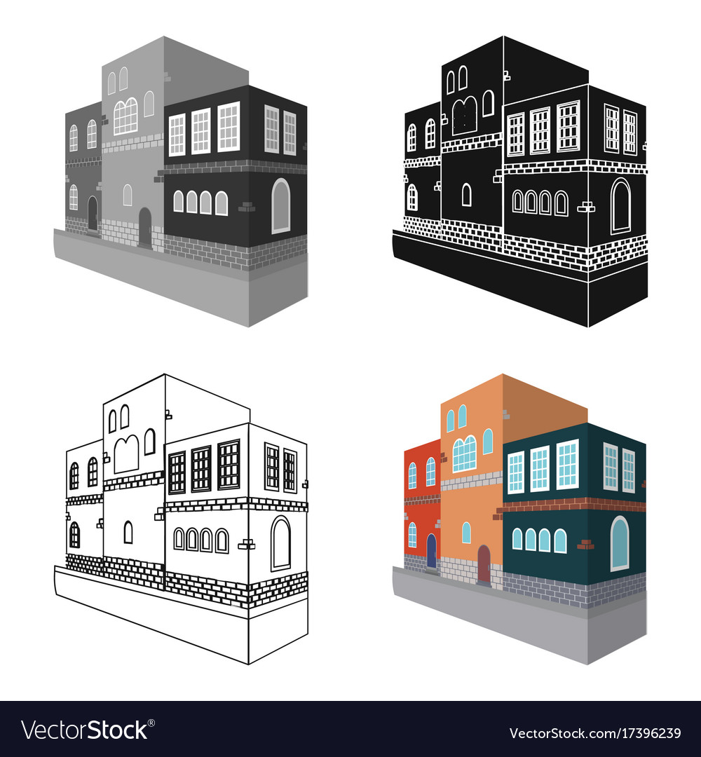 Typical scandinavian building architectural vector image on VectorStock