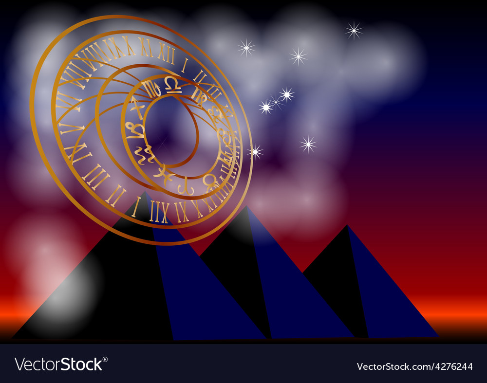 Ancient astronomy vector image