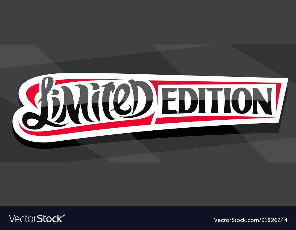 Banner for limited edition