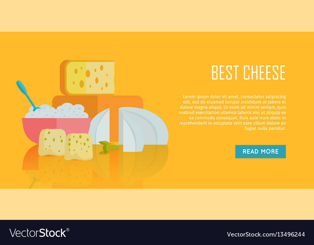 Best cheese banner natural farm food
