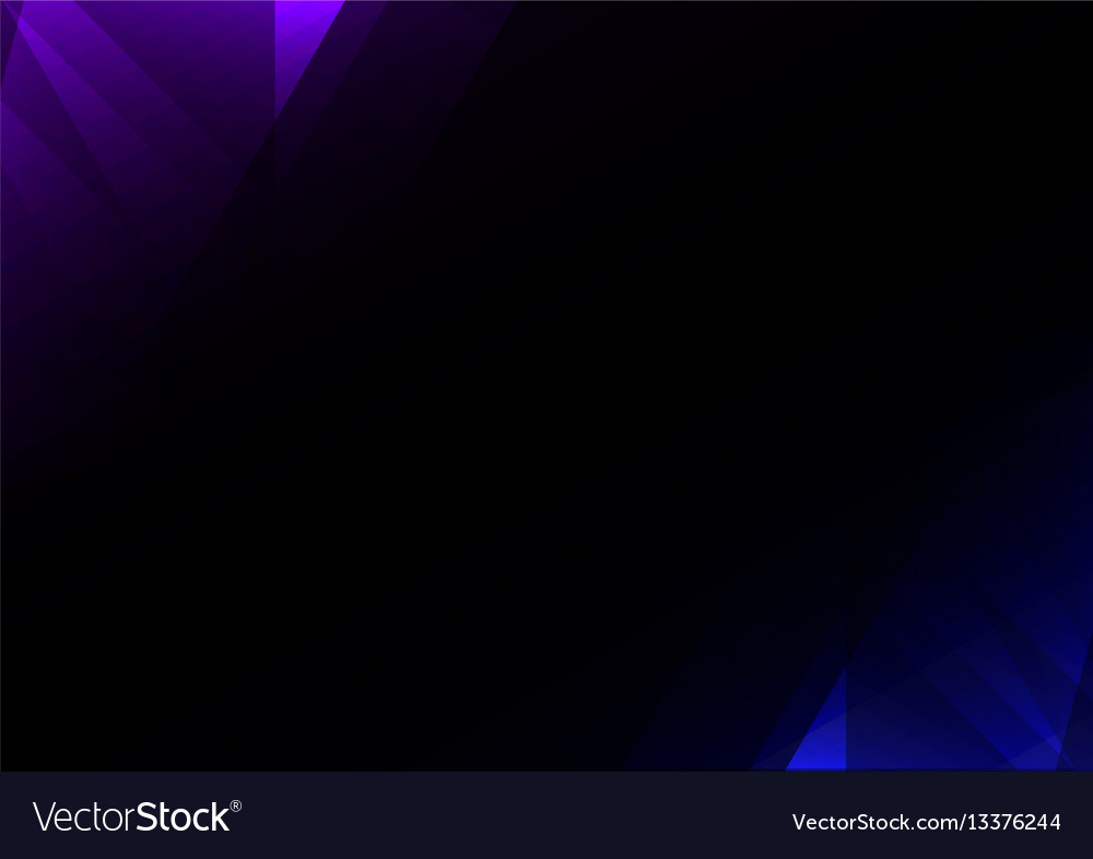 Blue crystal abstract dark background vector image