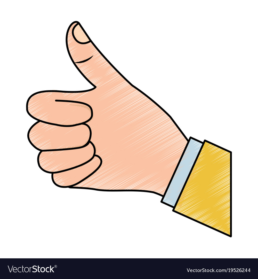 Thumb up hand gesture icon image vector image on VectorStock