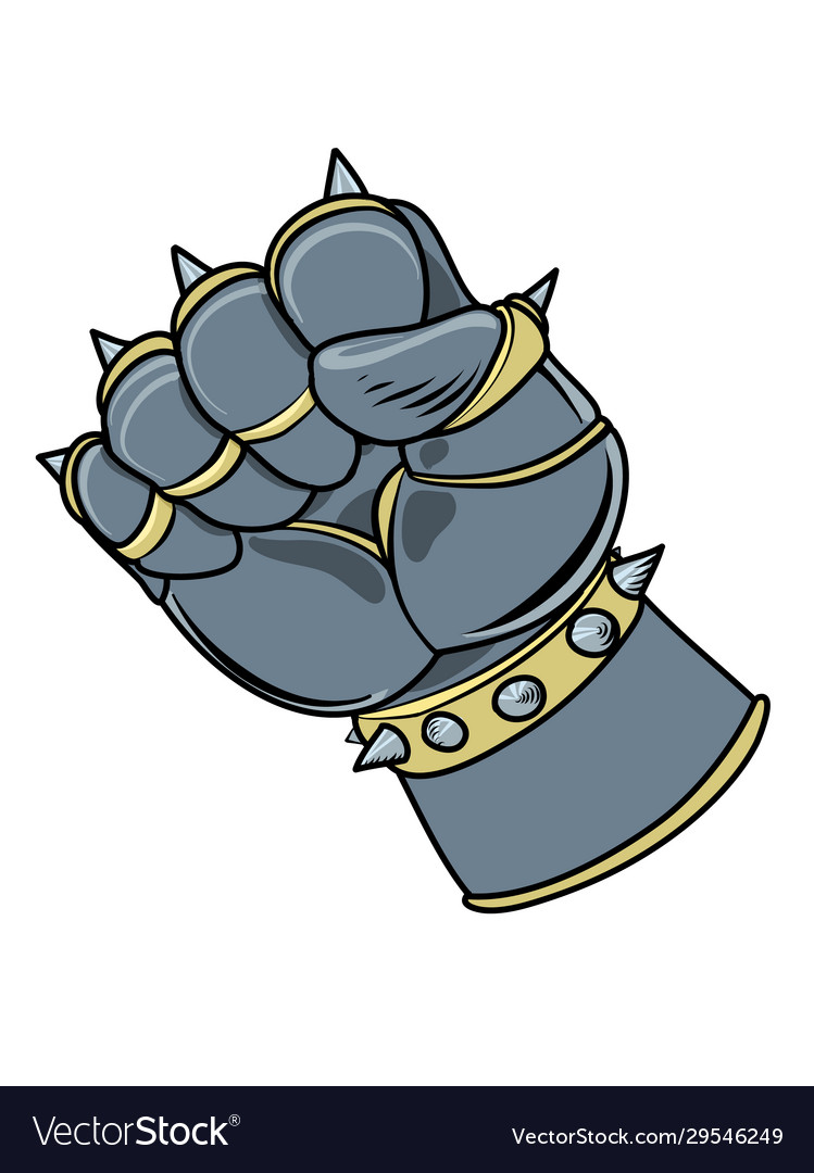 Armored gaunlet in fist shape