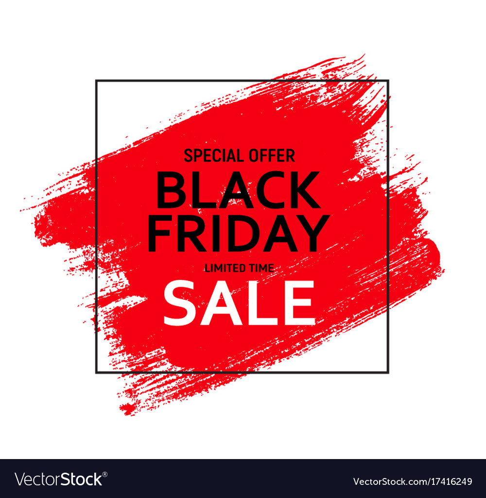 black friday sale banner template royalty free vector image