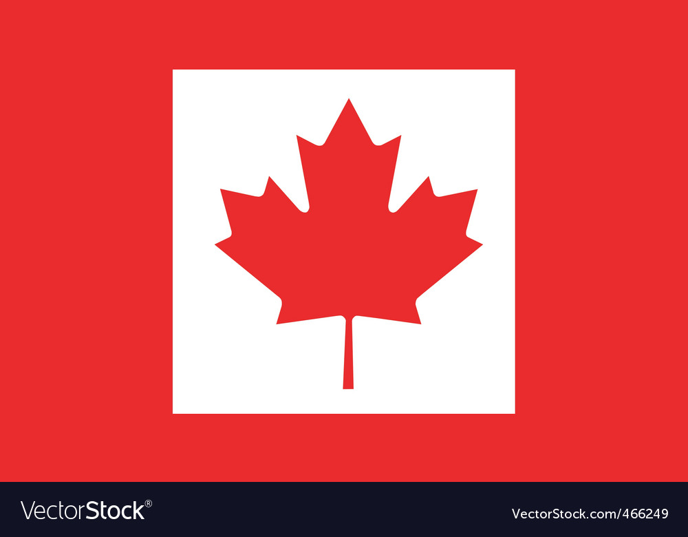 canadian flag royalty free vector image vectorstock rh vectorstock com canada flag vector canadian flag vector free download