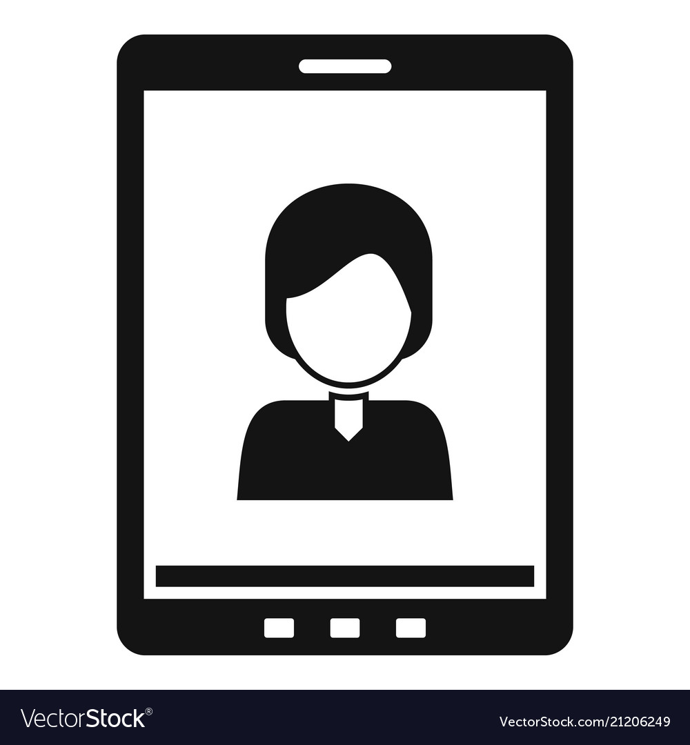 Device video call icon simple style