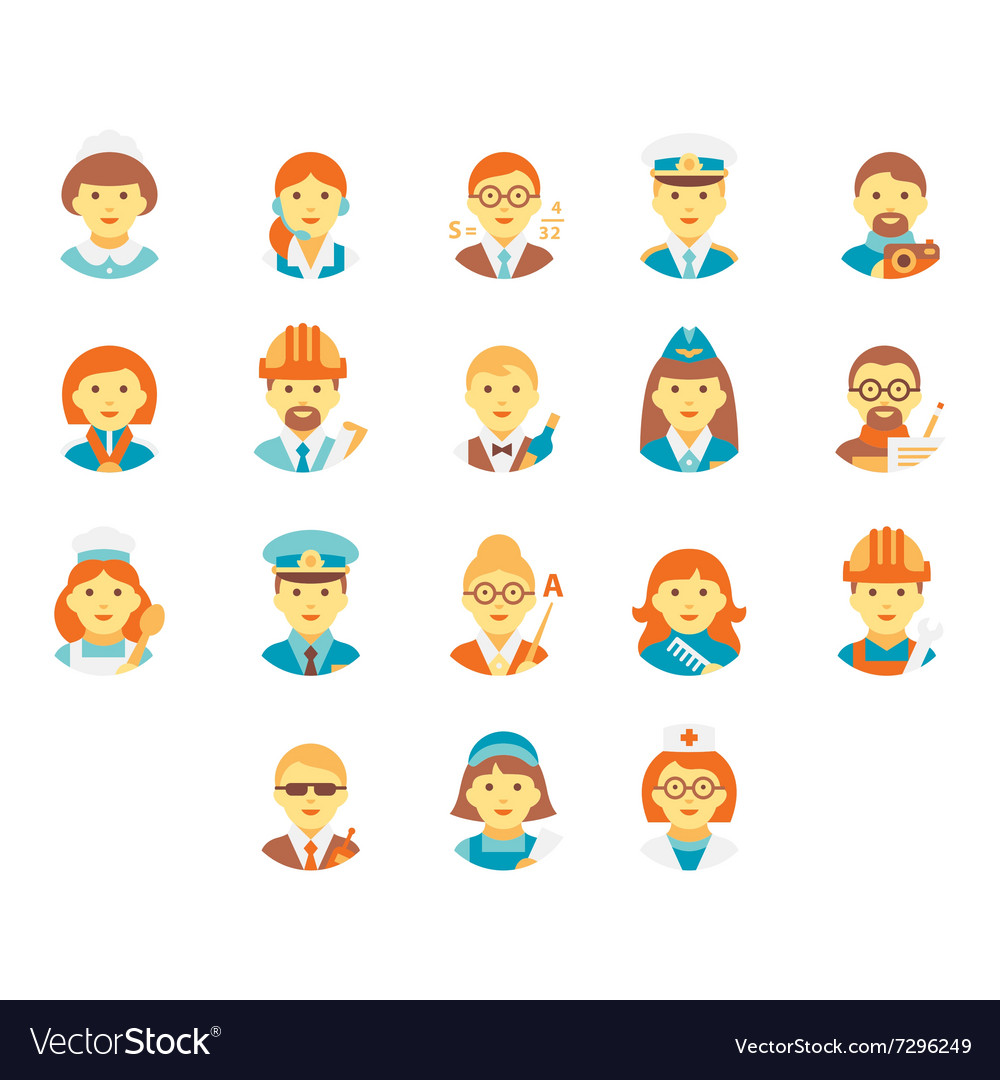 Faces People of Different Professions
