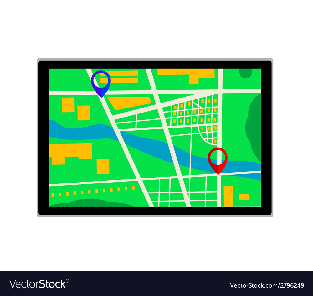 GPS navigator icon vector image
