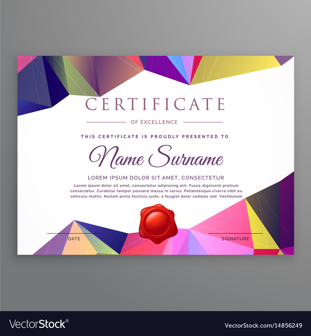 Modern low poly funky certificate design template vector image thecheapjerseys Gallery