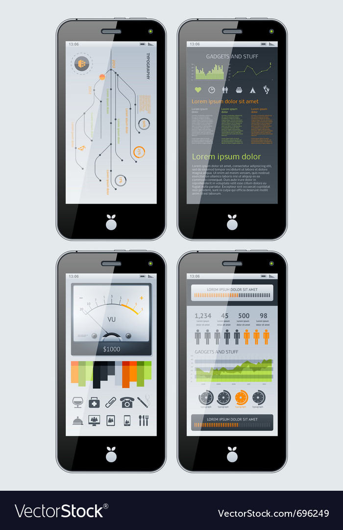 Smartphone infographics