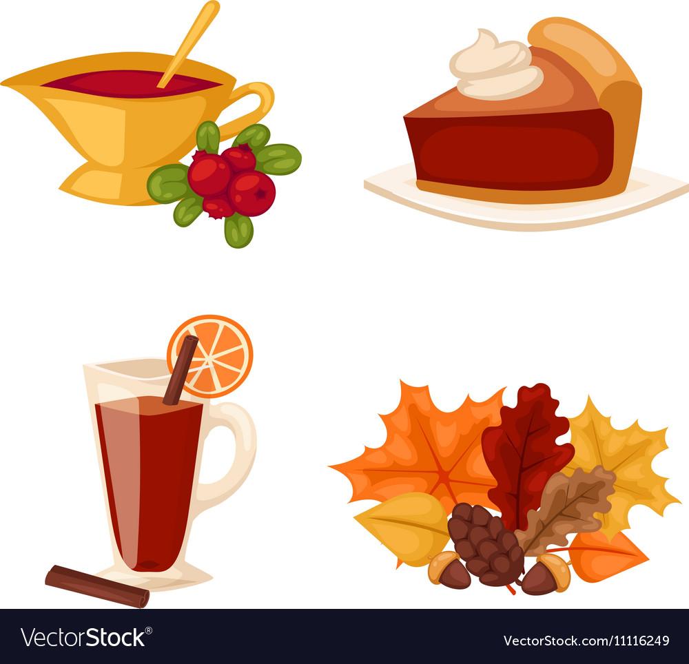Thanksgiving icons set