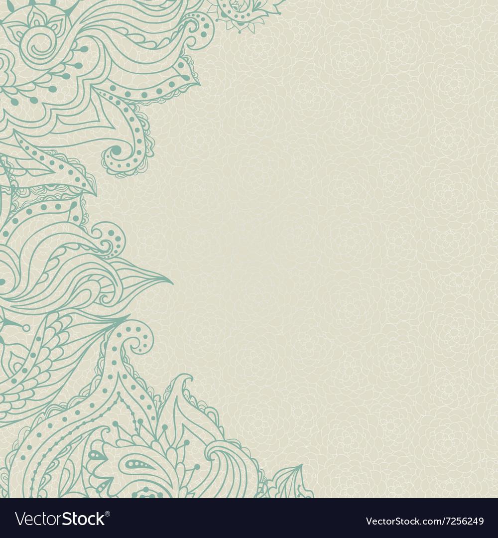 Vintage ornamental lace invitation on the seamless