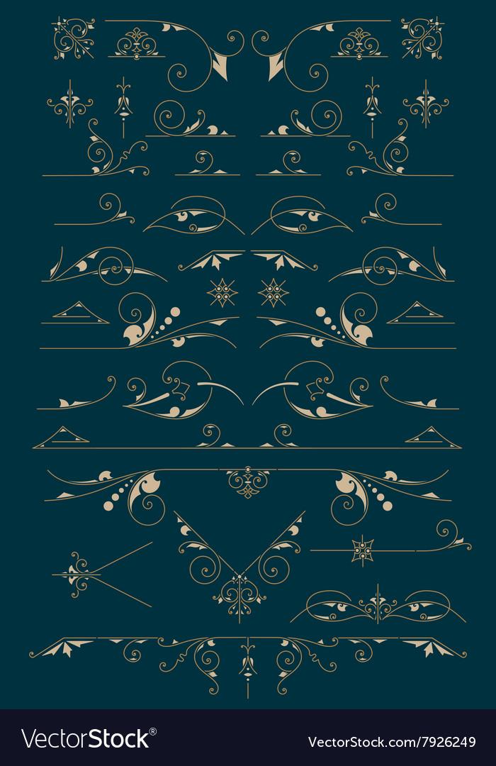 Vintage Ornaments Design Elements