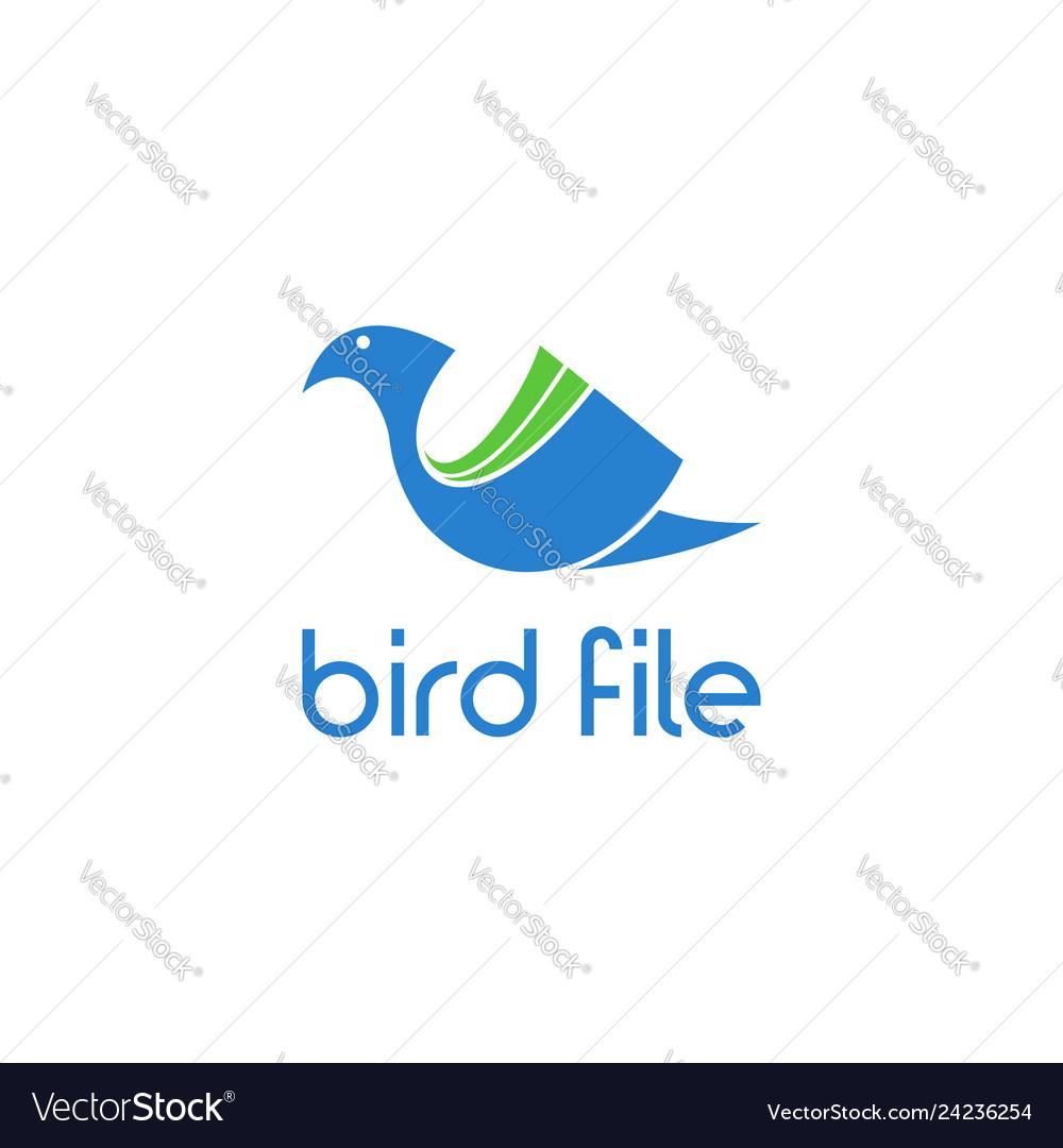 Bird file abstract logo
